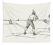 Baseball Game, 1889 Tapestry