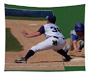 Baseball Pick Off Attempt 02 Tapestry