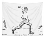 Baseball Pitching, 1889 Tapestry