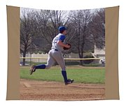 Baseball Step And Throw From Third Base Tapestry