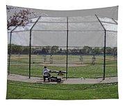 Baseball Warm Ups Digital Art Tapestry
