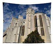 Basilica Of Saint Mary Madalene Back View Tapestry