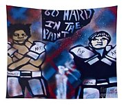 Basquait And Worhol Go Hard In The Paint Tapestry