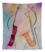 Bass And Sax Tapestry
