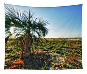Beach Palm Morning Tapestry