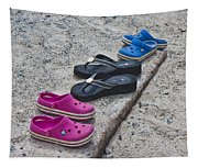 Beach Shoes Tapestry