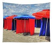 Beach Umbrellas Nice France Tapestry