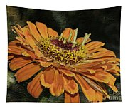 Beauty In Orange Petals Tapestry