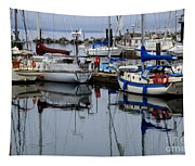 Beauty Of Boats Tapestry