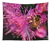 Bee On Lollypop Blossom Tapestry