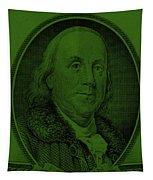 Ben Franklin In Dark Green Tapestry