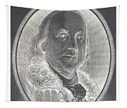 Ben Franklin In Negative Tapestry