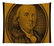 Ben Franklin In Orange Tapestry