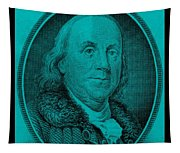 Ben Franklin In Turquois Tapestry