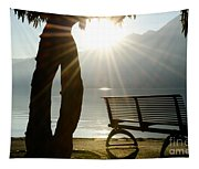 Bench And A Tree Tapestry