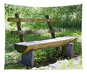 Bench Made Of Wood Tapestry