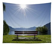 Bench On The Lakefront Tapestry