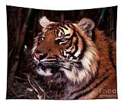 Bengal Tiger Watching Prey Tapestry
