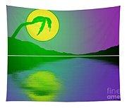 Bent Palm Sunrise Tapestry