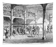 Bicycle Tournament, 1869 Tapestry
