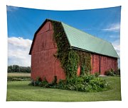 Big Red Barn On Rt 227 Tapestry