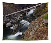Big Rocks In White Water  Tapestry