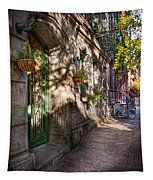 Bike - Ny - Greenwich Village - The Green District Tapestry