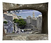Bird's Eye View Of Dubrovnik Tapestry