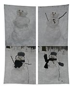 Birth Of A Snowman Tapestry