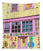 Colorful Building Bisbee Az Tapestry