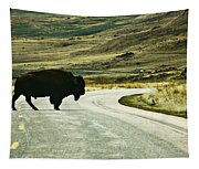 Bison Crossing Highway Tapestry