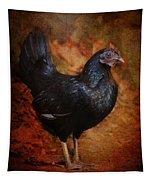 Black Bantam Chicken Tapestry