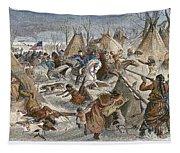 Black Kettles Village Tapestry