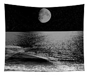 Black Night At The Shore Tapestry