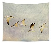 Black Skimmers On The Move Tapestry