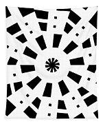 Black Spirale Tapestry
