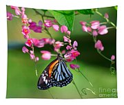 Black Veined Tiger Butterfly Tapestry