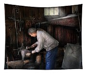 Blacksmith - Tinkering With Metal  Tapestry