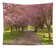 Blooms Along The Lane Tapestry
