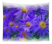 Blue Asters - Watercolor Tapestry