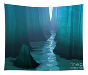Blue Canyon River Tapestry
