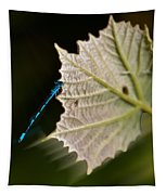 Blue Damsel On Leaf Tapestry