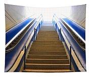 Blue Escalators Tapestry