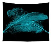 Blue Ghost On Black Tapestry
