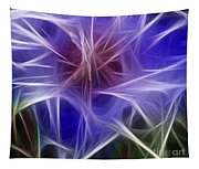 Blue Hibiscus Fractal Panel 2 Tapestry