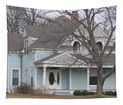 Blue House Tapestry