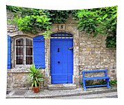Blue In Provence France Tapestry