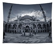 Blue Mosque Courtyard Tapestry