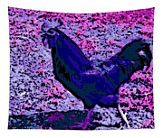 Blue Rooster Tapestry