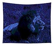 Blue Simba Tapestry